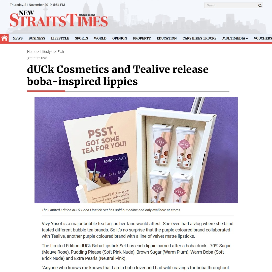 New Straits Times - March